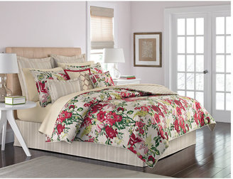 Martha Stewart CLOSEOUT! Collection Lush Blossom 6 Piece King Comforter Set