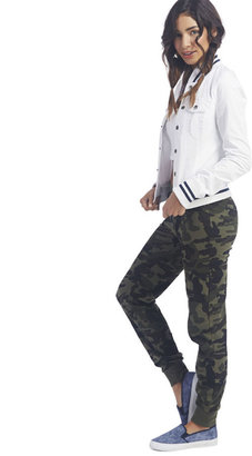 Wet Seal Lightweight Twill Baseball Jacket