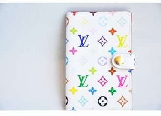 Louis Vuitton excellent (EX White Multicolore Monogram Canvas Card Case