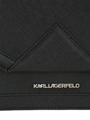 Karl Lagerfeld Rock Saffiano Leather Mini Shoulder Bag