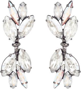 Elizabeth Cole Dangling Navette Earrings, Aurora Borealis 1 ea