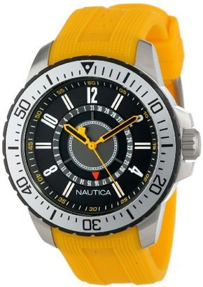 Nautica Unisex N14663G NST 15 Date Watch with Textured Yellow Band $145 thestylecure.com