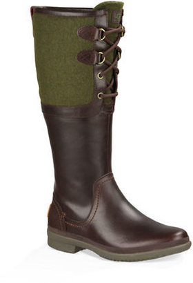 UGG Ladies Elsa Leather and Wool Blend Boots