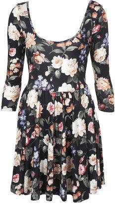 Topshop Vine Floral Skater Dress