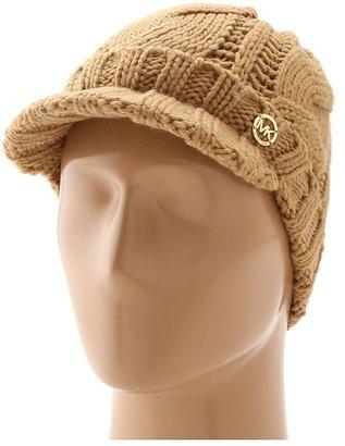 MICHAEL Michael Kors Michael Kors Tripple Cable Knit Peak Hat (Camel) - Hats