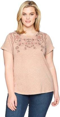 Lucky Brand Women's Plus Size Floral TEE