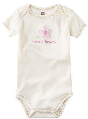 Hudson Baby Flower Organic Bodysuit - Ecru