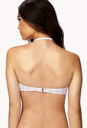 Forever 21 FOREVER 21+ Striped Bandeau Bikini Top