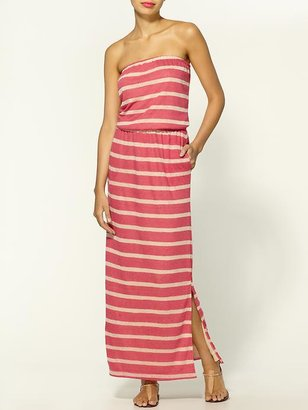 Hive & Honey Striped Slub Maxi Dress