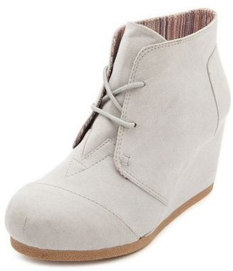 Charlotte Russe Sueded Wrap Toe Wedge Bootie