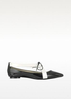 Marc Jacobs Black and White Patent Leather Flat