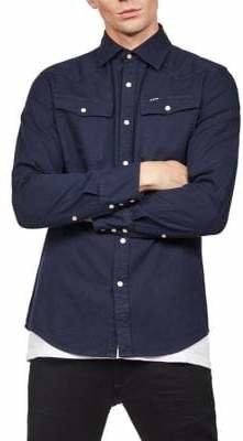 G Star Woven Sartho Button-Down Shirt