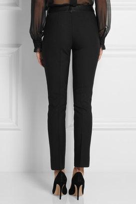 Dolce & Gabbana Stretch-wool crepe tuxedo pants