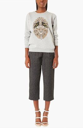 Topshop Boutique 'Bird Crest' Sweatshirt