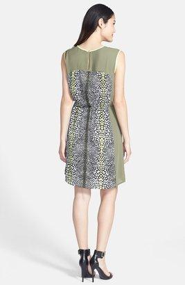Chaus Colorblock Ombré Print Dress