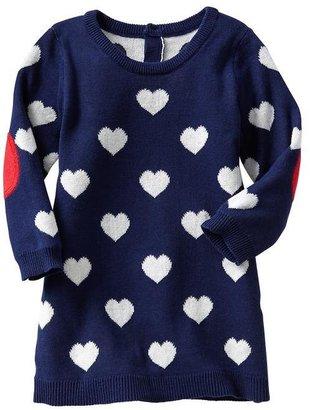 Gap Intarsia heart sweater dress