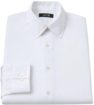 Apt. 9 slim-fit solid spread-collar dress shirt