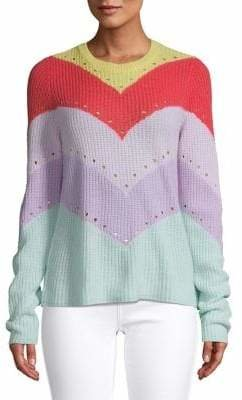 Autumn Cashmere Embellished Cashmere Top
