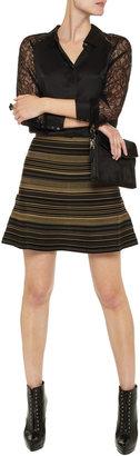 Herve Leger Striped bandage skirt