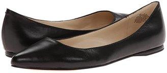 Nine West SpeakUp Flat (Black Leather) Women's Dress Flat Shoes