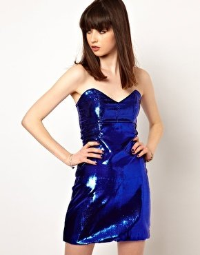 One Teaspoon Music is Lethal Glimmer Dress - Blue