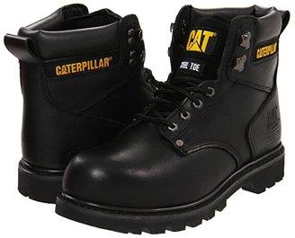 Caterpillar 2nd Shift Steel Toe (Dark Brown Leather) Men's Work Boots