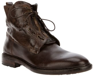 Officine Creative Zip up military boot