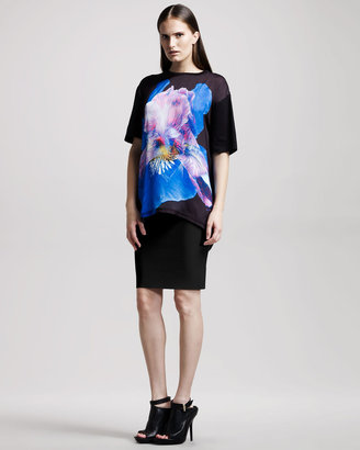 Givenchy Textured Pencil Skirt