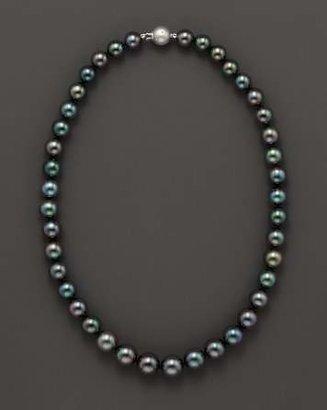 "Bloomingdale's Tahitian Black Pearl Necklace, 18"""