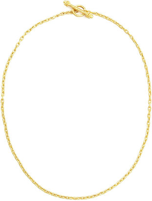 "Elizabeth Locke 19k Fine Gold Link Necklace, 17""L"