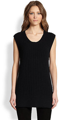 The Row Nailah Side-Zip Merino Wool & Cashmere Sweater