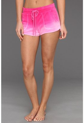 Juicy Couture Ombre Velour Dolphin Short (Passion Pink Ombre) - Apparel