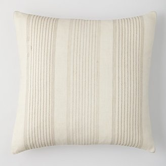 "Vera Wang Etched Roses Stitched Stripe Pillow, 20"" x 20"""