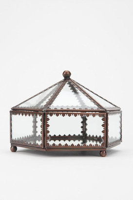 Urban Outfitters Glass Hexagon Jewelry Box