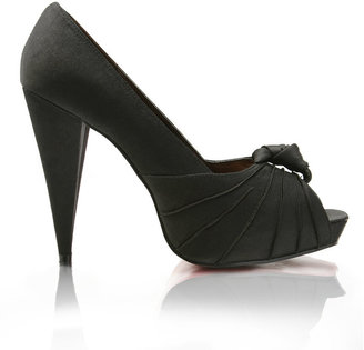 Asos Satin Knot Front Peep Toe Shoe