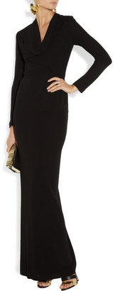 Roland Mouret Sibony crepe and lace gown