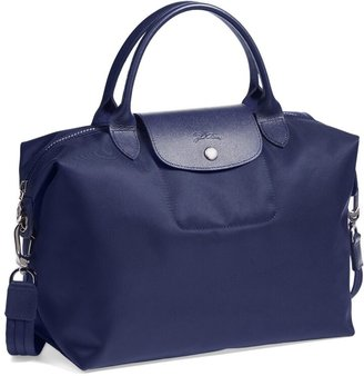Longchamp 'Medium Le Pliage Neo' Nylon Top Handle Tote