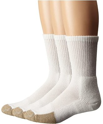 Thorlos Tennis Crew Thick Cushion 3-Pair Pack (White) Crew Cut Socks Shoes