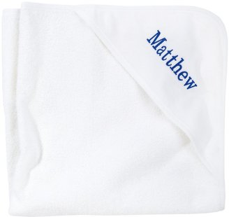 American Terry Co. Velour Baby Hooded Towel - White