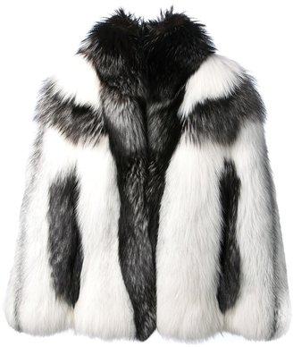 Alexander McQueen marble fur coat