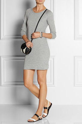 James Perse Cotton French terry sweatshirt dress