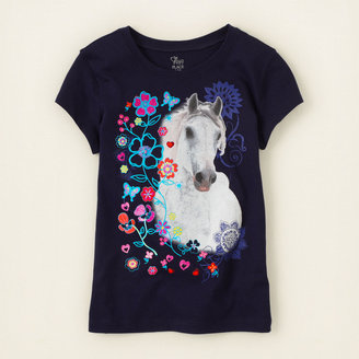 Children's Place Flower horse graphic tee