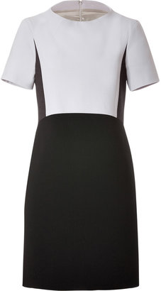 Jil Sander Navy Wool Blend Dress in Black/Grey