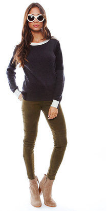 Shae Motorcycle Sweater in Heather Charcoal Combo