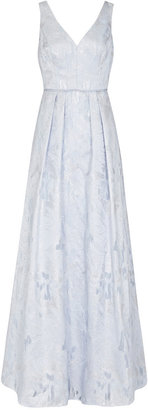 Aidan Mattox Sleeveless A Line V Neck Dress