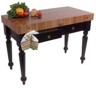 """John Boos & Co.® Le Rustica Cherry Block Table, 48"""" x 24"""""""