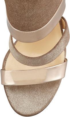 Jimmy Choo Berlin Metallic Sandal, Light Bronze