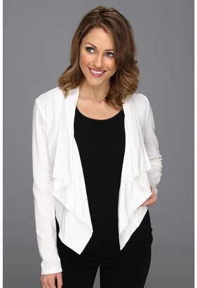 DKNY Drapey Linen Blazer (White) - Apparel