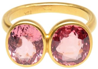 Marie Helene De Taillac Amethyst and tourmaline ring