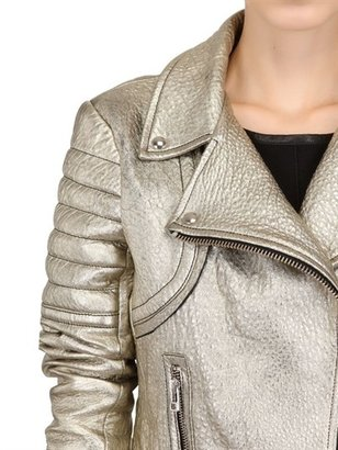 Faith Connexion Laminated Lamb Leather Biker Jacket